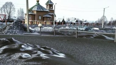 Few Siberian Towns Are Covered in Black Snow Due to Pollution
